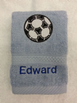 FOOTBALL PERSONALISED FACE CLOTH
